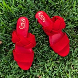 Sam Edelman red danielle statement sandal flats